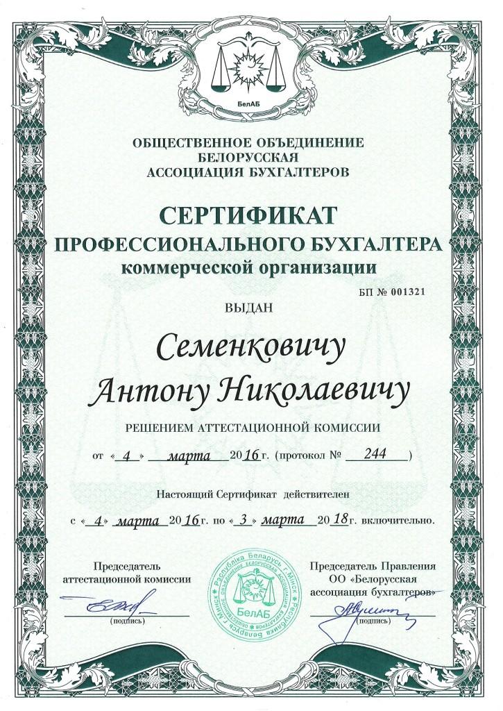 Бухгалтер Антон Семенкович