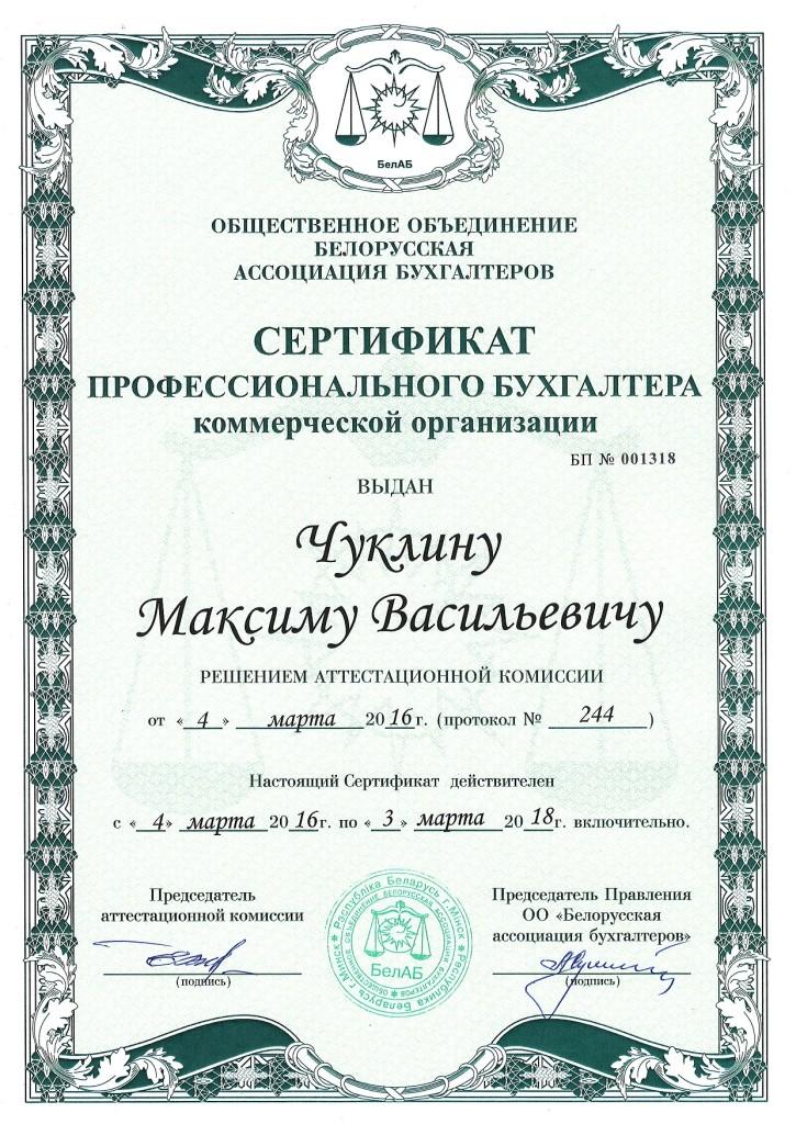 Бухгалтер Максим Чуклин