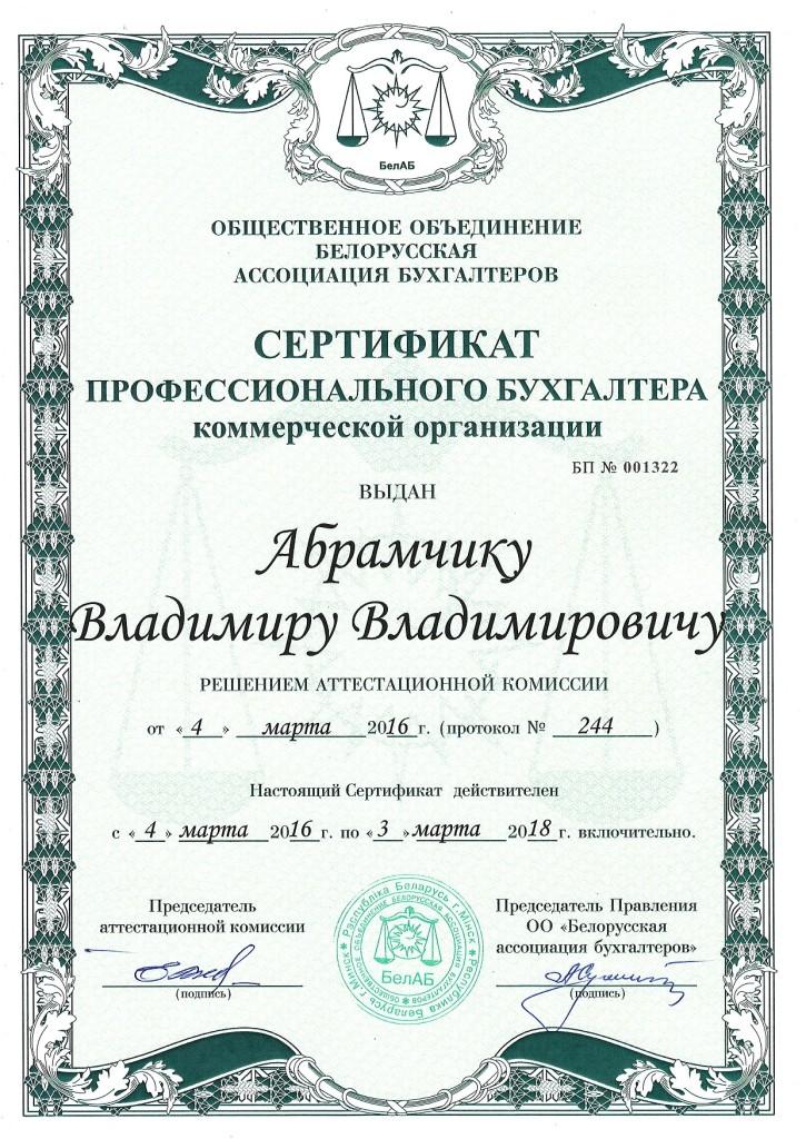 Бухгалтер Владимир Абрамчик